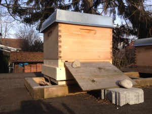 Bienenbeute mit Beelogger-Unterbau